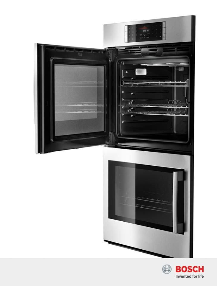 "Double Stacked Ovens with side opening doors are great for users in a wheelchair because they lessen the risk of burns posed by a normal drop down door - Bosch 30"" Single Wall Oven Left SideOpening Door Wall Oven Benchmark® Series, Stainless Steel 