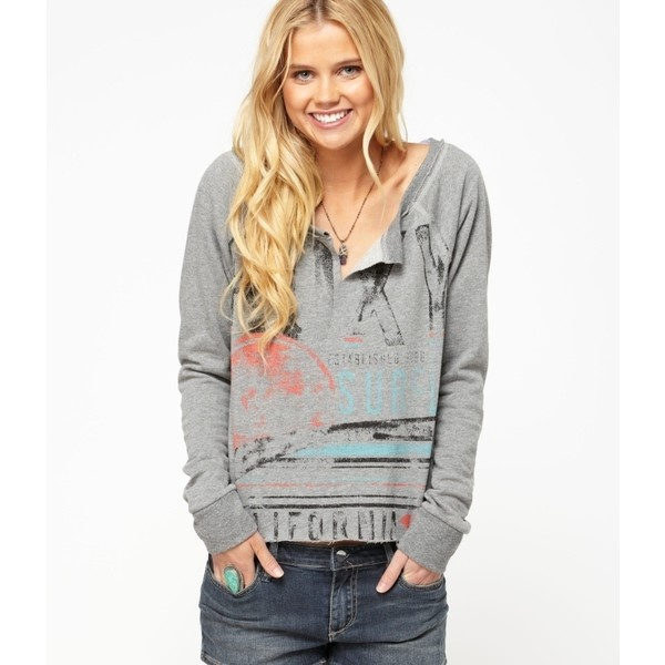 Roxy Cliff's Edge Hoodie ($40) ❤ liked on Polyvore