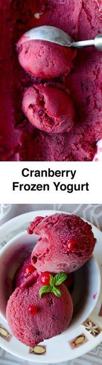 Cranberry Frozen Yog Cranberry Frozen Yogurt is the healthy...  Cranberry Frozen Yog Cranberry Frozen Yogurt is the healthy alternative to ice cream. Beat the heat with this wonderfully refreshing and healthy dessert! Use any berry you like. Recipe : http://ift.tt/1hGiZgA And @ItsNutella  http://ift.tt/2v8iUYW