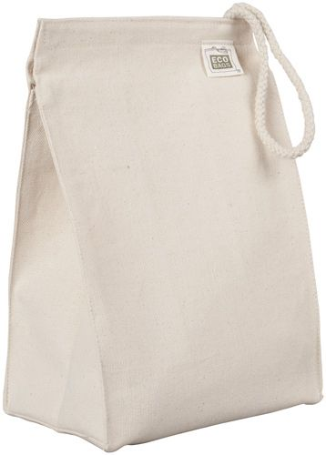 ECOBAGS Recycled Cotton Canvas Lunch Bag Purchase for kids lunch program and just to sell