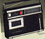 1970's Portable AM Radio Cassette Player and Recorder from 1977