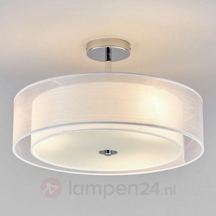 LED-plafondlamp Pikka met witte kap veilig & makkelijk online bestellen op lampen24.nl