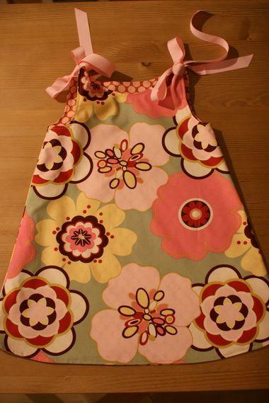 DIY reversible toddler dress
