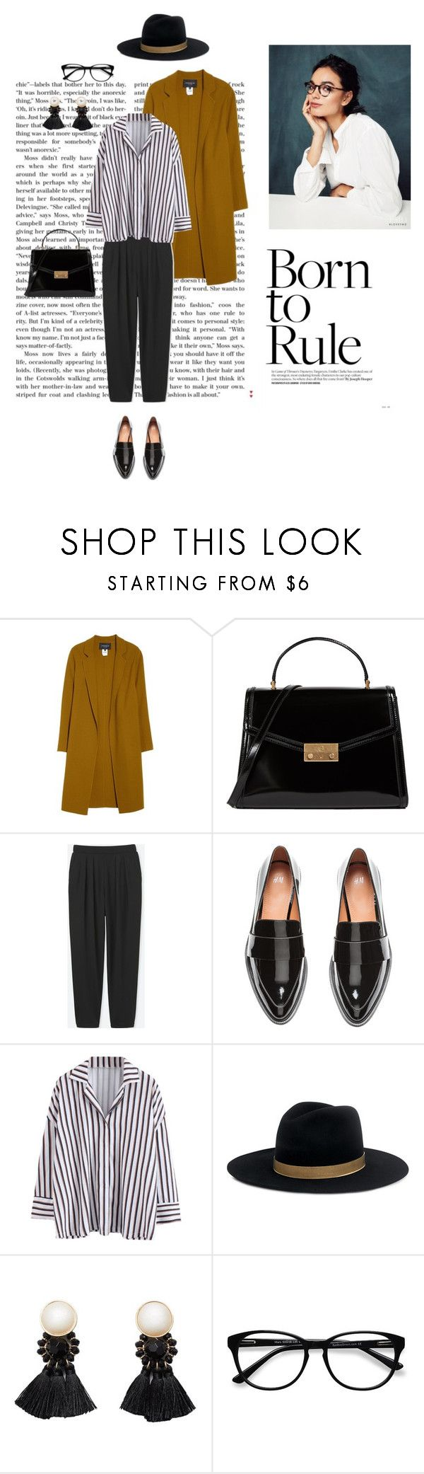 """04/02"" by dorey on Polyvore featuring Lafayette 148 New York, Tory Burch, Uniqlo, H&M, Janessa Leone, MANGO and EyeBuyDirect.com"