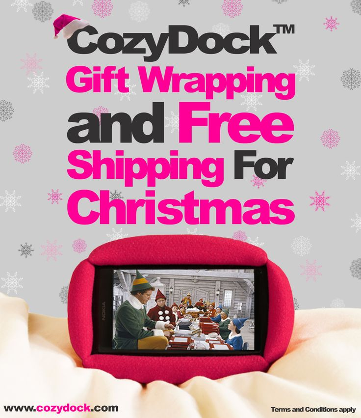To make your Christmas shopping a little easier www.cozydock.com is offering free shipping and gift wrapping up until December 18th 2013.