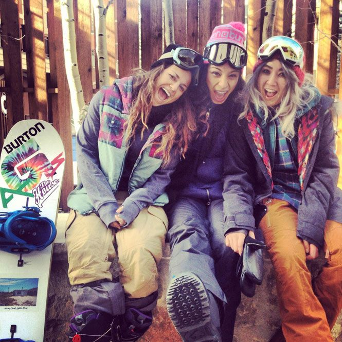 Learn to snowboard (again but with my new challenges). Behind the Scenes of the Burton Girls Winter Lookbook