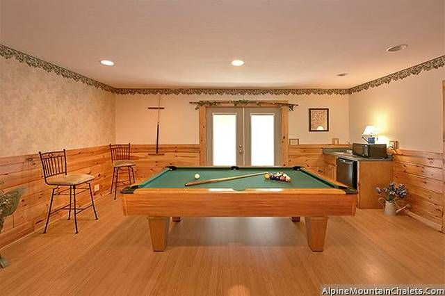 The Potting Shed -- Enjoy the family room with an inviting big screen TV, mini refrigerator and full size pool table for a little competition.