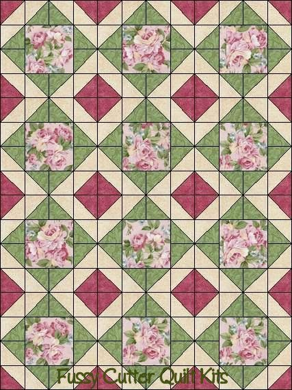 images of easy fall quilts | ... Shabby Chic Fabric Easy Pre-Cut Quilt Bloc Fussy Cutter Quilt Kits