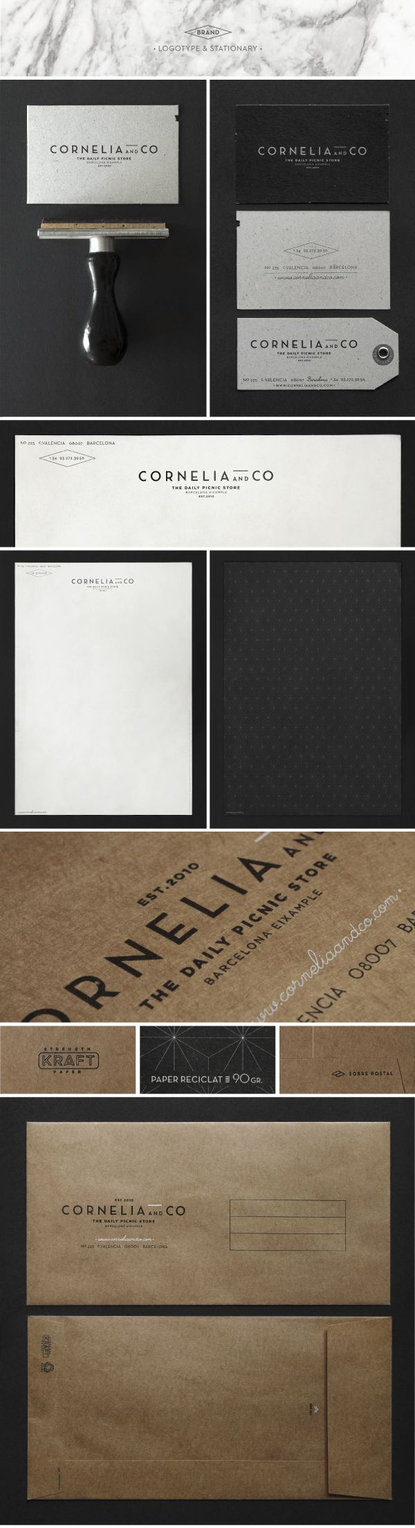 CORNELIA and CO / Brand identity & Packaging by Oriol Gil, via Behance