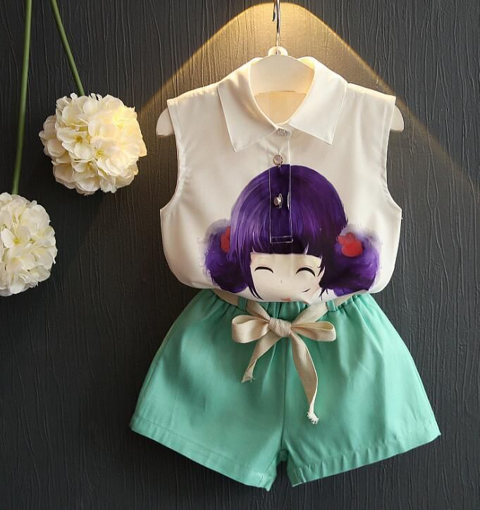 http://babyclothes.fashiongarments.biz/  4 Color Girls Clothing suit Baby chiffon Cute girl cartoon sleeveless shirt + shorts Suit Children 2pcs set wholesale, http://babyclothes.fashiongarments.biz/products/4-color-girls-clothing-suit-baby-chiffon-cute-girl-cartoon-sleeveless-shirt-shorts-suit-children-2pcs-set-wholesale/,  we are committed to provide you best quality commodities, low price and high quality service.  We are glad to provide the pictures without watermark to you.We also…