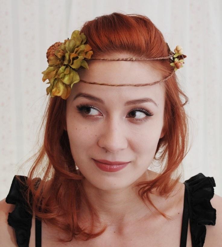 Fionna - Harvest fairy hair wreath.