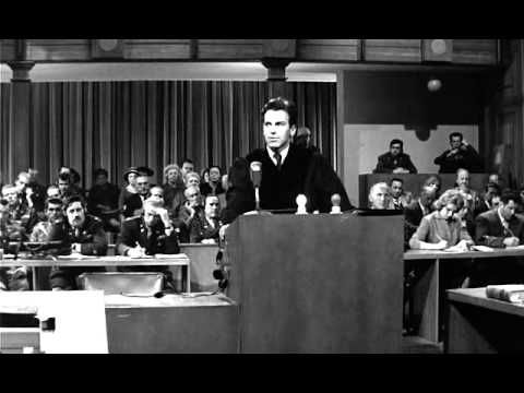 """Este es un fragmento del film """"Vencedores o Vencidos""""que trata sobre los juicios de Nuremberg que se desarrollaron en contra de los más importantes jueces del tercer Reich. Este es el argumento de la defensa de Ernst Janning, prestante jurista alemán que ordenó mediante sus fallos una serie de situaciones aberrantes."""