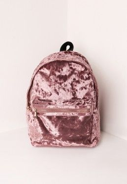Velvet Backpack Pink  #RePin by Dostinja - WTF IS FASHION featuring my thoughts, inspirations & personal style -> http://www.wtfisfashion.com/