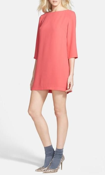 A sweet little shift dress for Valentine's Day.