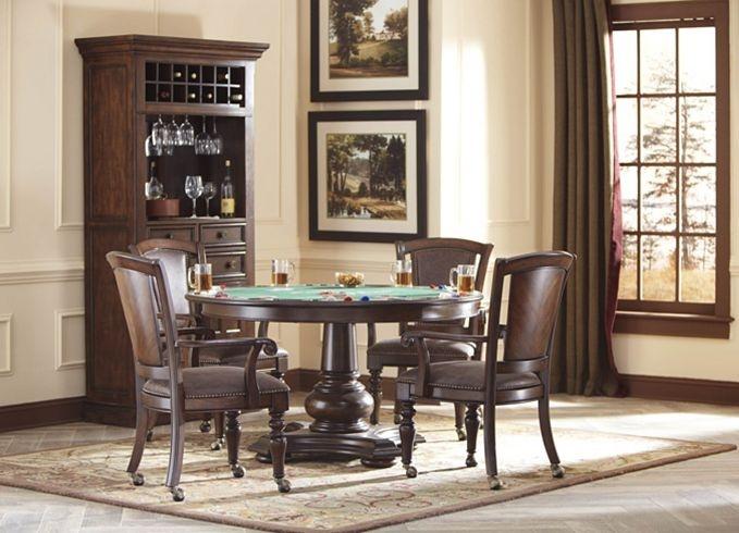 Sheffieldu0027s Tavern Wine Cabinet U0026 Game Table | Havertys