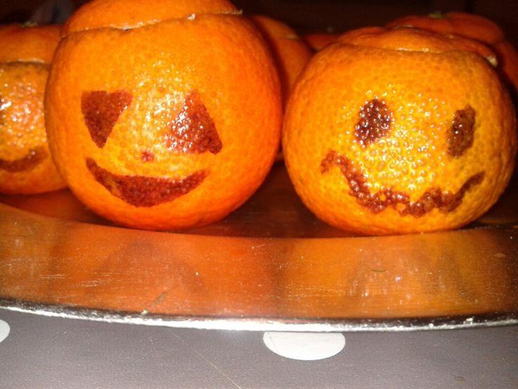Mandarines mousse au chocolat Mini citrouilles Halloween