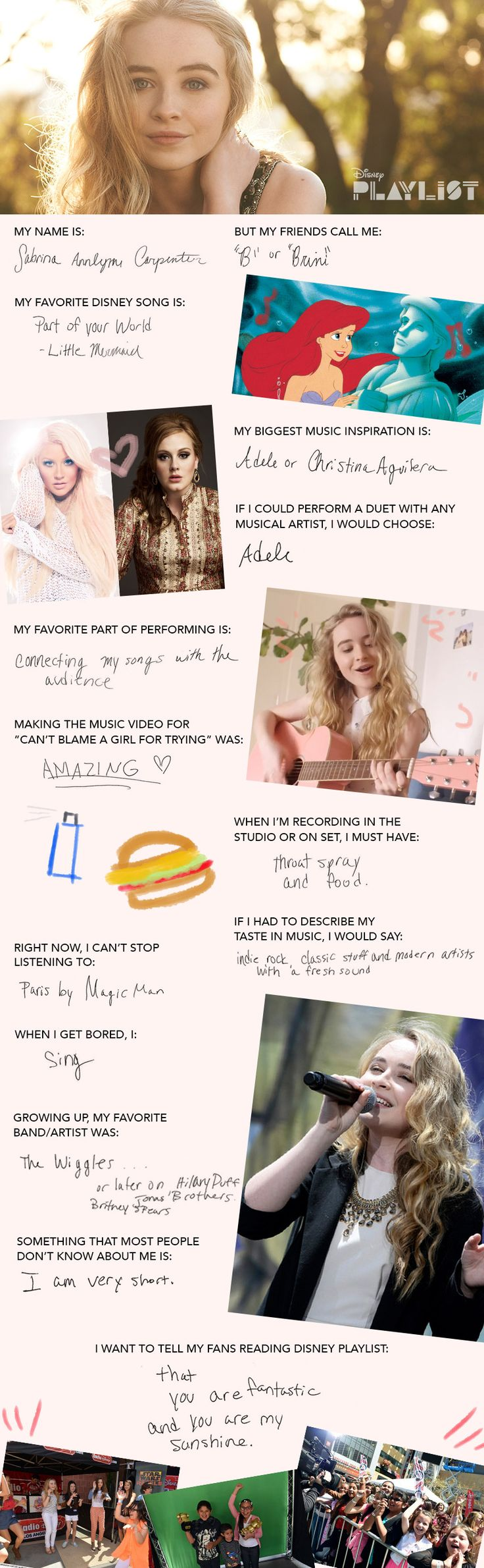 Sabrina Carpenter Takes the Playlist Pop Quiz