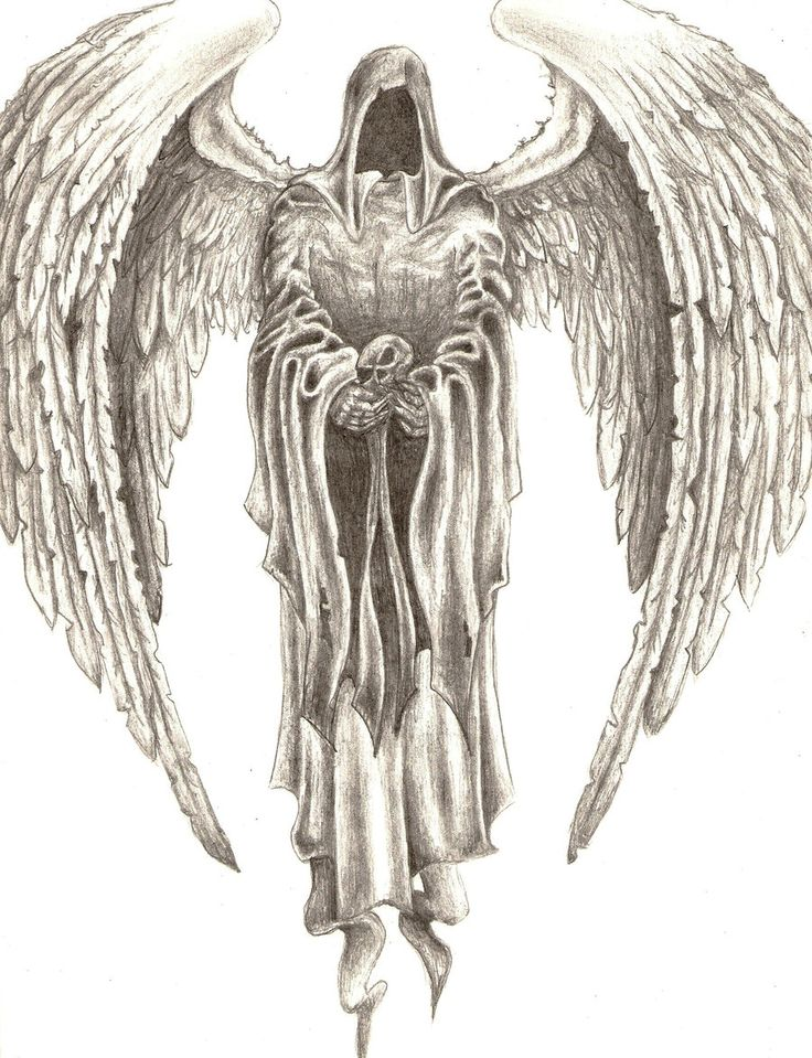Dark Angel Tattoo on Pinterest | Statue Tattoo Fallen Angel Tattoo ...