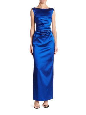 TALBOT RUNHOF Sleeveless Ruched Gown. #talbotrunhof #cloth #gown
