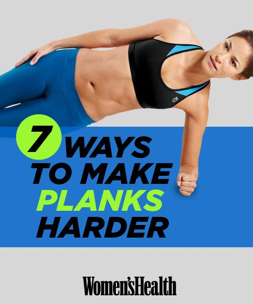 Improve your abs workout with THESE 7 ways to make planks even harder: http://www.womenshealthmag.com/fitness/plank-exercise?cm_mmc=Pinterest-_-womenshealth-_-content-fitness-_-makeplanksharder