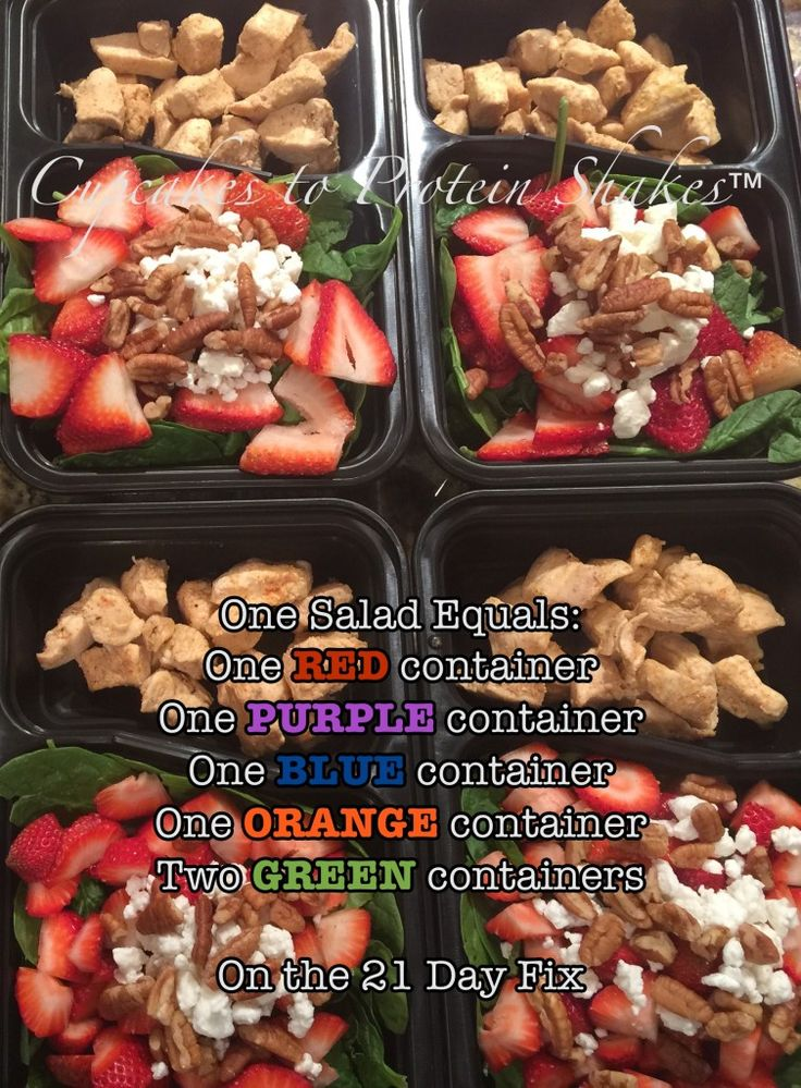 Summer Strawberry Chicken Salad!! 21 Day Fix Recipe that tastes so good! It is so filling too! It's meal prep friendly too, so I made 6 and ate them this entire week :D #21DayFix