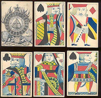 English handmade playing cards