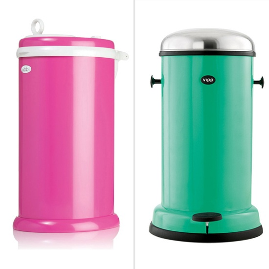 Simple or Swank: Bold Colored Diaper Pails - www.lilsugar.com  I hate our diaper champ. I need this!