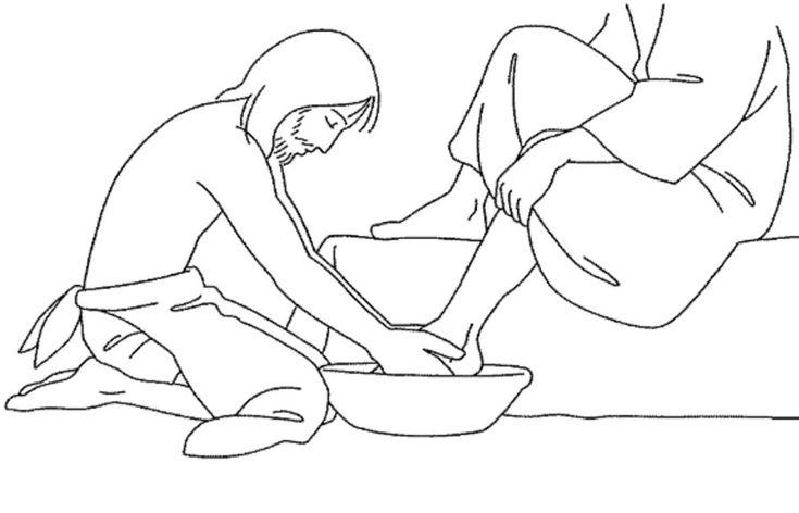 Jesus washes His disciples' feet (John 13)