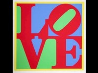 Go here: http://vimeo.com/12370819  Short (under 4 minutes) descriptive video of Robert Indiana's Love
