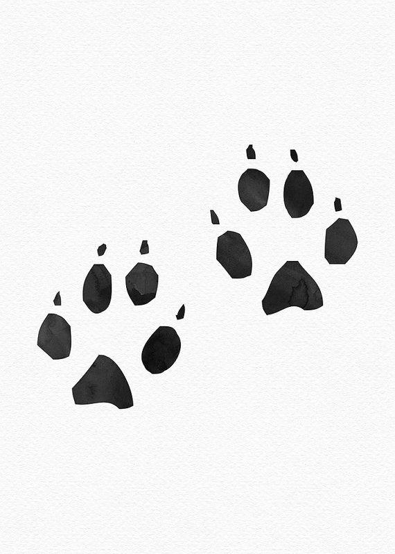 Native American Art Bear Paw Prints kunst door PrintsAndPrintables
