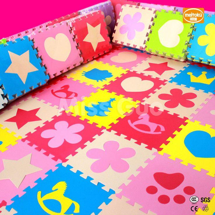 Foam Floor Tiles 10PCS Children Play Mat Gym Puzzle Baby Kids Floring 30X30cm #Meitoku