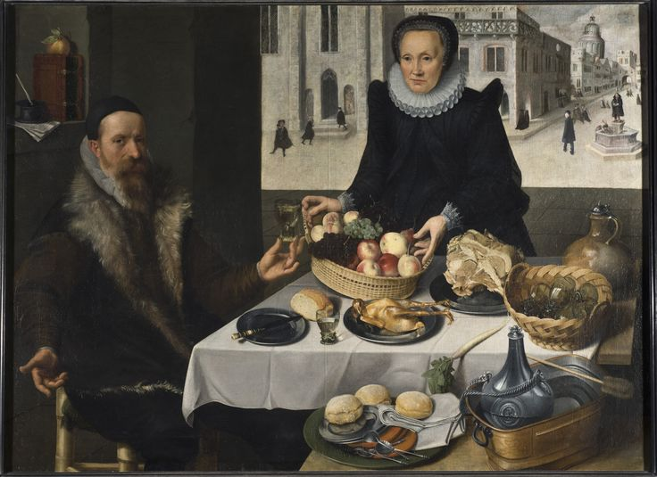 Portrait of an Elderly Couple (Lucas van Valckenborch & Georg Flegel) - Nationalmuseum
