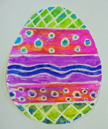 3rd - Watercolor/Crayon Resist Easter Eggs