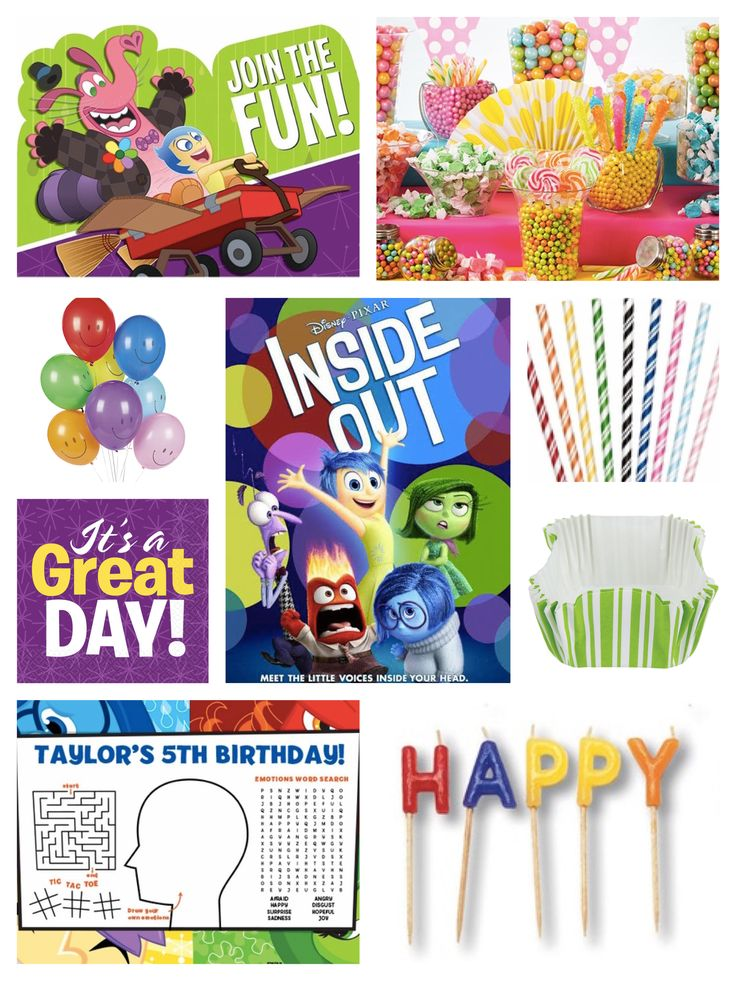 The Best Inside Out Party Ideas Ideas On Pinterest Rainbow - Birthday invitations inside out