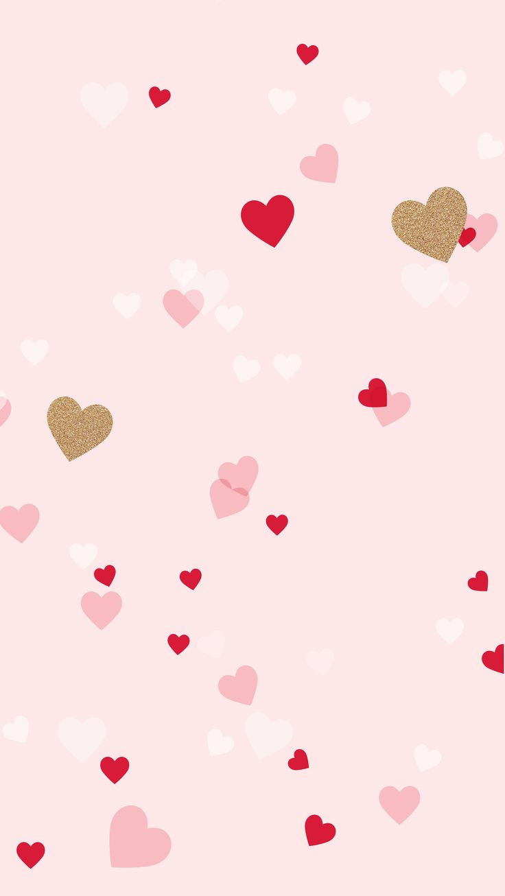valentine's day pink heart vector background