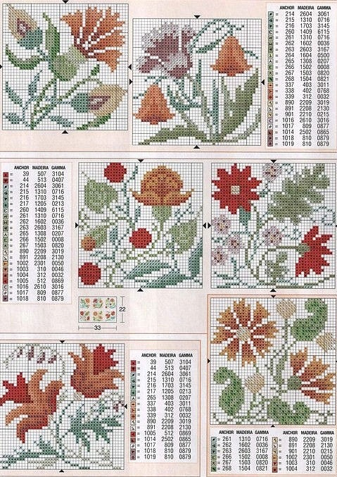 Flowered Squares