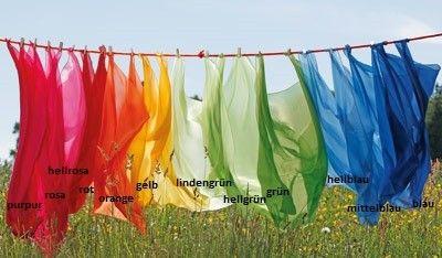 Spieltuch Seide in vielen verschiedenen Farben und Größen