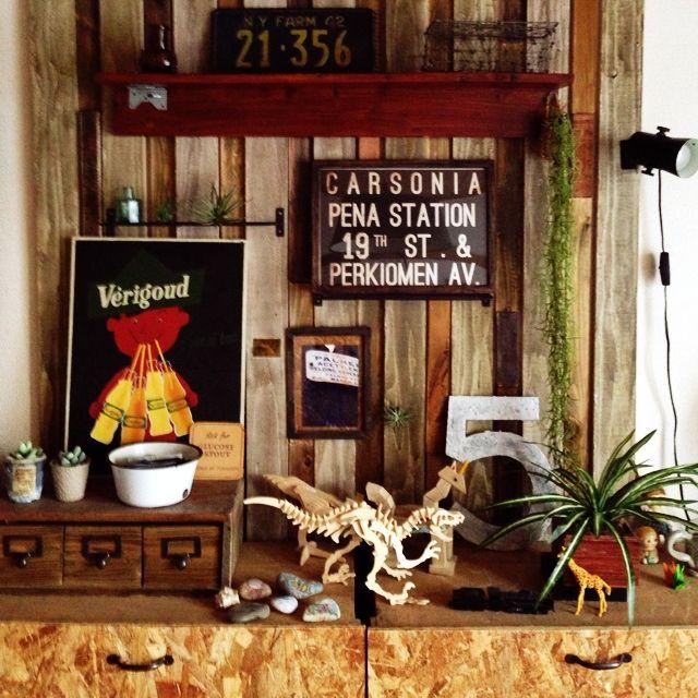 アンティーク/植物/フェイクグリーン/ダイソー/100均/セリア…などのインテリア実例 - 2014-07-07 08:27:06 | RoomClip(ルームクリップ)