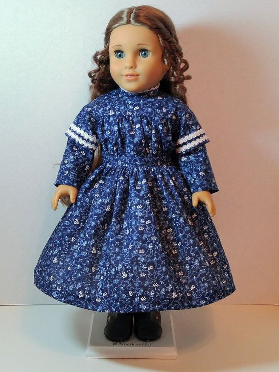 1850's CW Blue Floral Dress by ThreadsOfTroy on Etsy