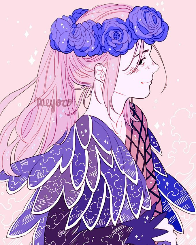 Cousaten I Just Had To Draw Viktor In His Old Costume Because 1 Viktor With Long Hair 2 Flower Crown 3 Viktor Yuri On Ice Anime Yuri