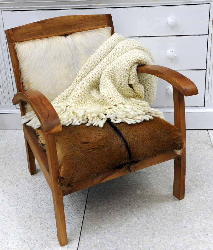 Stunning oxhide-covered wooden chair with a Parlane throw. Imported and available exclusively at Notting-Hill.ca. Enter to win a $ 300 #NottingHill gift card http://theprov.in/nottingcontest #contest