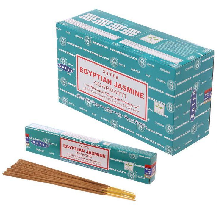 Satya+Nag+Champa+Incense+Sticks+-+Egyptian+Jasmine+(12+Packs)