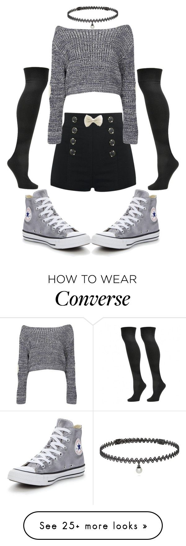 """Untitled #30"" by miragrace on Polyvore featuring Steve Madden, BERRICLE, Boohoo and Converse"