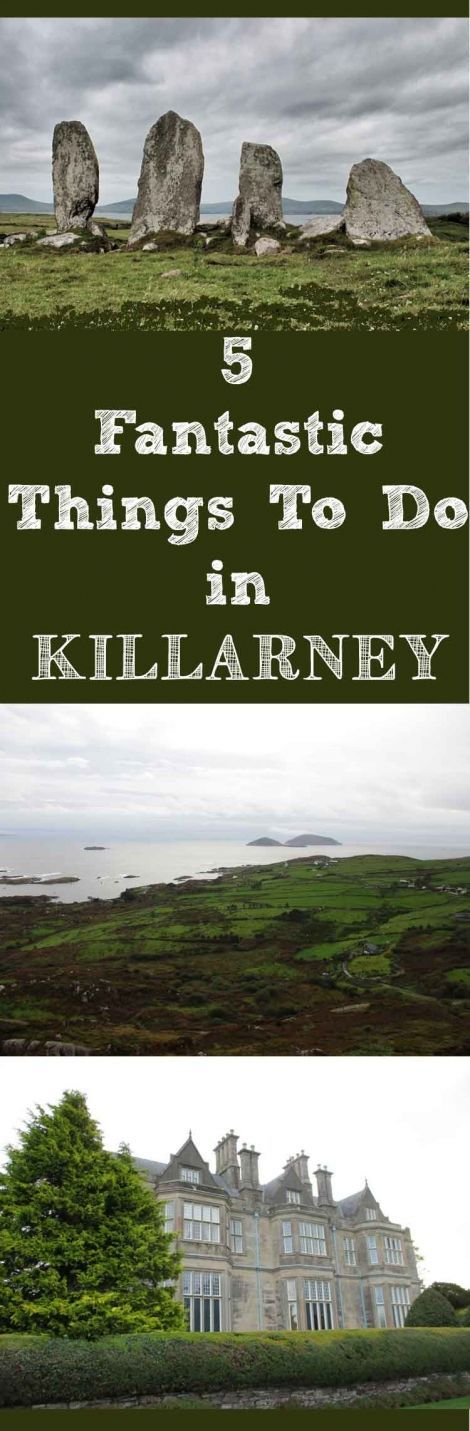 Things to Do in Killarney, Ireland. Killarney, Kerry County, Ireland, must be one of the world's best family destinations. As we explored, we saw families everywhere; hiking, biking, tandem biking, swimming, picnicking and climbing. #killarney #ireland #familytravel #castles #historichouses #kerry
