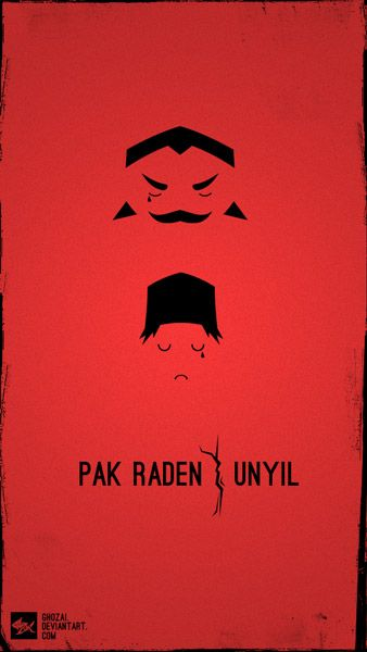 minimalist poster tribute to Pak Raden.  http://ghozai.deviantart.com/art/tribute-to-pak-raden-297218093