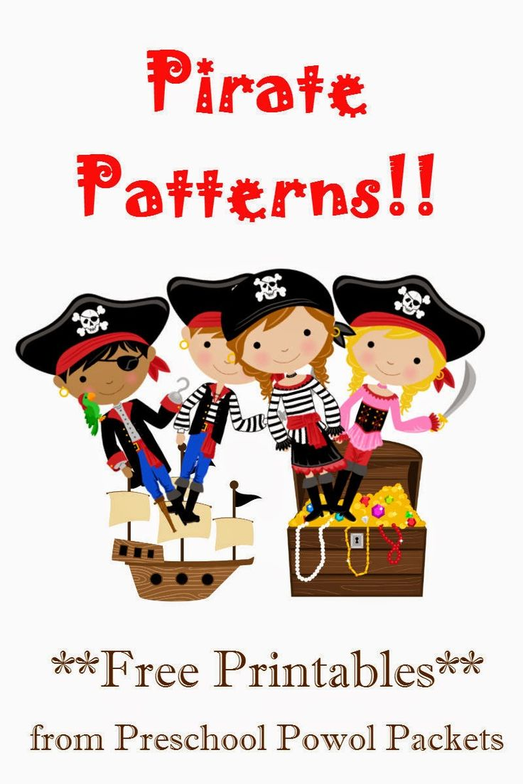 Pirate Craft Ideas For Kids Part - 47: {FREE} Pirate Patterns Preschool Packet