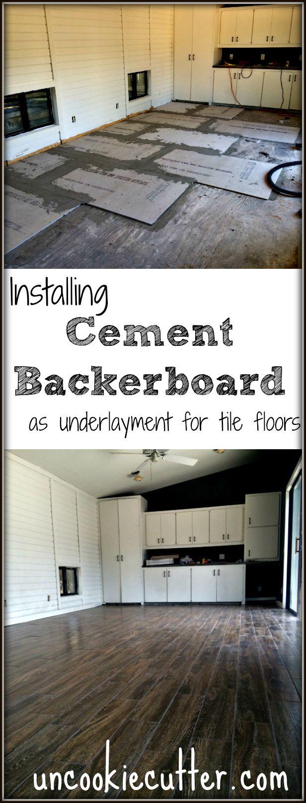 Cement backerboard floor tile installation tile for Cement tile installation