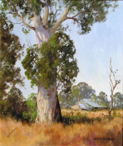 Gerard Mutsaers original oil  Summer Pastures Yea  Australia