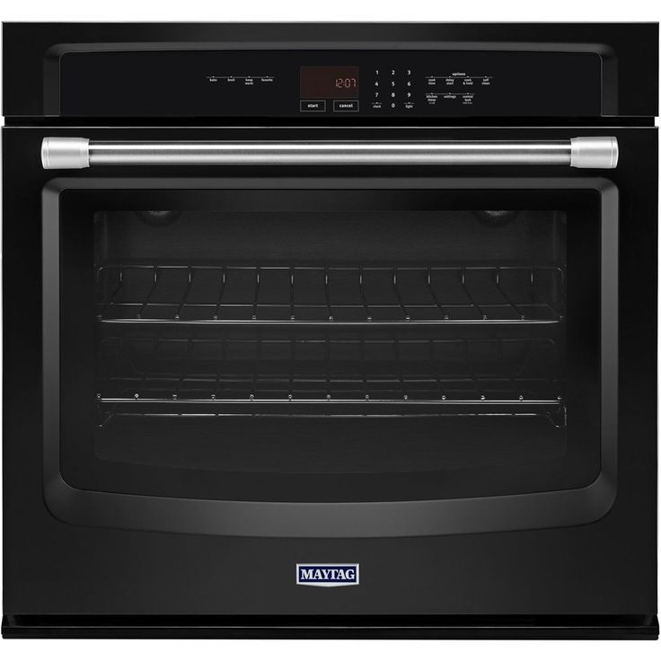 "Maytag - 27"" Built-In Single Electric Wall Oven - Black"