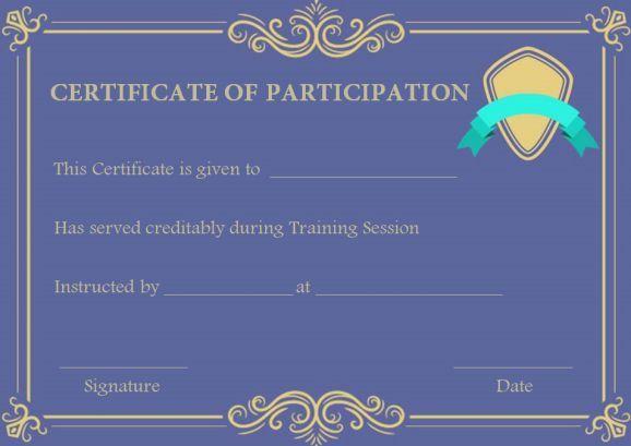 Training Participation Certificates